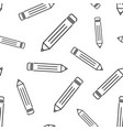 pencil seamless pattern background business flat vector image vector image