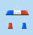police flasher or ambulance flasher set vector image
