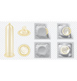 realistic 3d detailed latex condom set vector image vector image