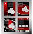Red brochure booklet cover design templat vector image vector image