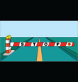 road barrier stop sign on highway vector image