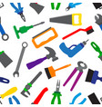 seamless pattern with instruments and tools vector image