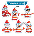 set of cute snowman characters set 4 vector image vector image