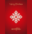 snowflake on a red background vector image vector image