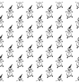 Snowman pattern seamless vector image vector image