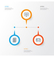 social icons set collection of internet site vector image vector image