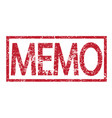 stamp text memo vector image vector image