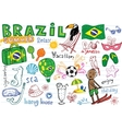 Summer in Brazil doodles collection vector image vector image