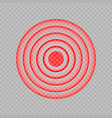template red painful target spot pain circles vector image vector image