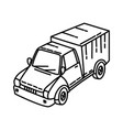 transportation icon doodle hand drawn or outline vector image vector image