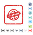 valentine stamp seal icon rubber watermark vector image vector image