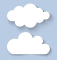 White Clouds Paper Banners for your design vector image vector image