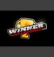 winner volleyball logo modern professional vector image vector image