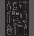 work tools home repair sketch chalk icons vector image vector image