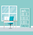 workplace office scene icon vector image