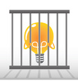 Yellow Bulb in a cage vector image vector image