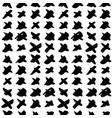 cross hand drawn seamless pattern vector image