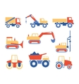 Various Trucks and Construction Machinery Graphics vector image
