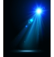 Abstract disco background with blue spot lights vector image