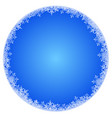 abstract round winter background vector image