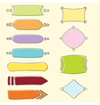 Set of banners and frames vector image