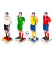world cup football team vector image