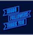 1000 followers network thank you poster vector image vector image