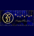 2021 golden medal glittering snowflakes vector image vector image