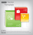 3d square plastic glossy element for infographic vector image vector image