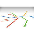 abstract metro or subway map design template vector image