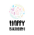 an inscription for the poster happy birthday vector image vector image