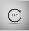 angle 360 degrees icon isolated on grey background vector image