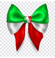big bow in colors italy flag vector image