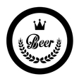 black beer related emblem icon image vector image vector image