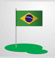 brazil flag pole vector image