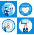 business communication - set of flat design style vector image