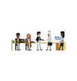 business meeting asian and arab businessmen vector image vector image