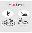 Car and bicycle vector image vector image