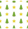 christmas semless pattern with star and christmas vector image vector image
