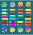 colorful website web e-shop buttons design vector image vector image