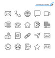 contact line icons editable stroke vector image vector image