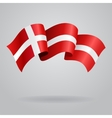 Danish waving Flag vector image