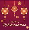 decorative greeting cards on rakhi vector image vector image