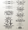 decorative text design element vector image vector image