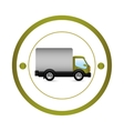 Delivery truck vehicle vector image vector image