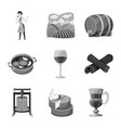 design stamp and restaurant icon vector image vector image