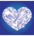 Diamond card hearts vector image