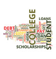 eight ways to pay off student loan debt text vector image