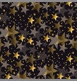 elegant gold and black stars seamless pattern vector image