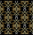 embroidery floral baroque damask gold seamless vector image vector image